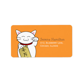 Maneki Neko Address Label