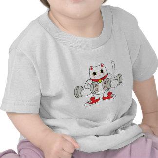 Maneki Neko Bicep Curl T Shirt