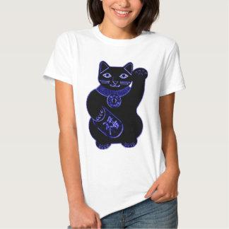 maneki neko blue neon tee shirts