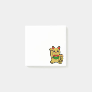 Maneki Neko: Golden Lucky Cat Post-it® Notes