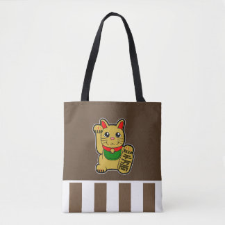 Maneki Neko: Golden Lucky Cat Tote Bag