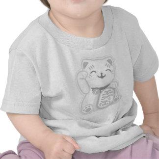 maneki neko gray t-shirt