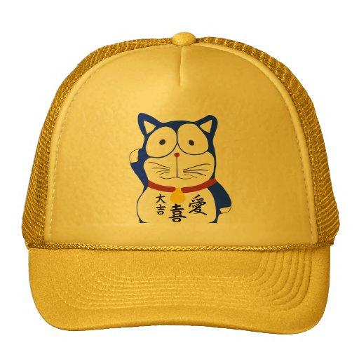 Maneki Neko - Japanese lucky cat Mesh Hats
