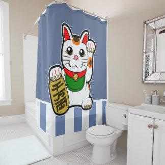 Maneki Neko: Japanese Lucky Cat Shower Curtain