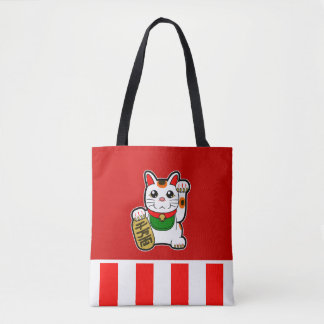 Maneki Neko: Japanese Lucky Cat Tote Bag