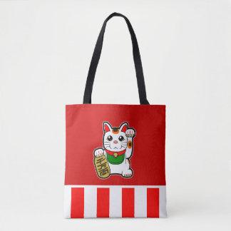 Maneki Neko: Japanese Lucky Cat Tote Bag