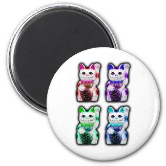 Maneki Neko JAPANESE money CAT Refrigerator Magnets