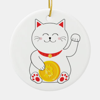 Maneki Neko Lucky Cat Bitcoin Ornament