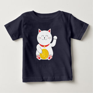 Maneki Neko Lucky Cat Bitcoin Toddler T shirt