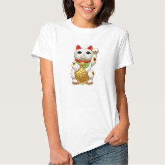 maneki-neko lucky cat japanese charm talisman welc shirt