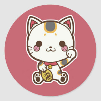 Maneki Neko (Lucky Cat) Sticker
