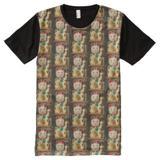 Maneki-neko, Lucky cat, Winkekatze 2.2 All-Over Print T-Shirt
