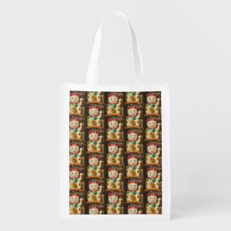 Maneki-neko, Lucky cat, Winkekatze 2.2 Reusable Grocery Bag