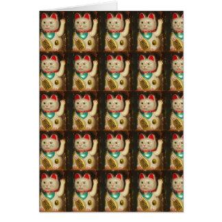 Maneki-neko, Lucky cat, Winkekatze Card