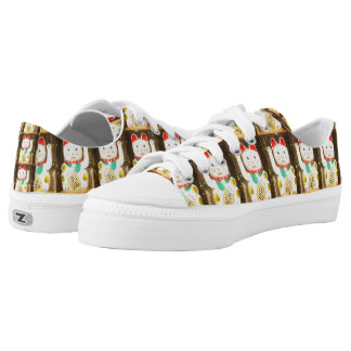 Maneki-neko, Lucky cat, Winkekatze Low Tops