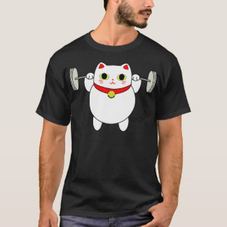 Maneki Neko Squatting Cat T-Shirt