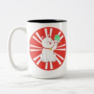 Maneki Neko Tokyo Cat Two-Tone Mug