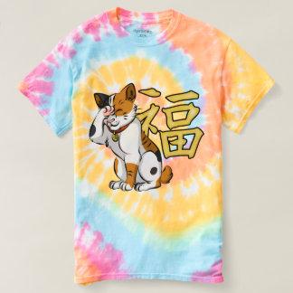 Maneki Neko Women's Spiral Tie-Dye T-shirt