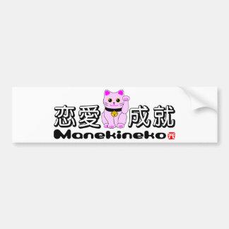 Manekineko-Luck for love Bumper Sticker