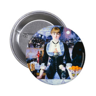 Manet Bar at the Folies Bergere Button