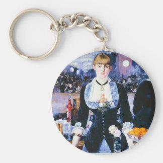 Manet Bar at the Folies Bergere Key Chain