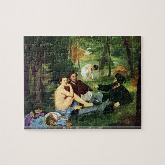 Manet - Copy of Luncheon on The Grass 1863 Jigsaw Puzzle