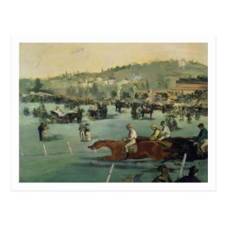 Manet | Horse Racing, 1872 Postcard