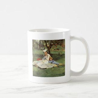 Manet Impressionist French family in garden Coffee Mug