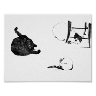 MANET: LES CHATS, 1869 POSTER