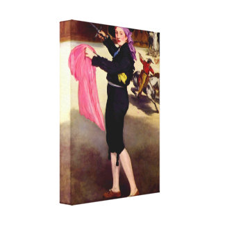 Manet - Mlle Victorine in the Costume of a Matador Canvas Prints