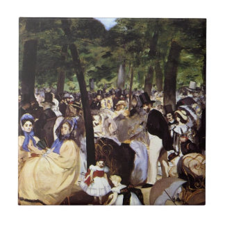 Manet: Music in the Tuileries Garden Small Square Tile