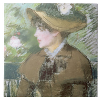 Manet | On the Bench, 1879 Large Square Tile