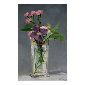Manet | Pinks and Clematis in a Crystal Vase, 1882 Poster