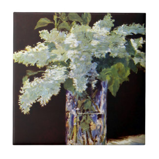 Manet Still Life White Lilacs Tile
