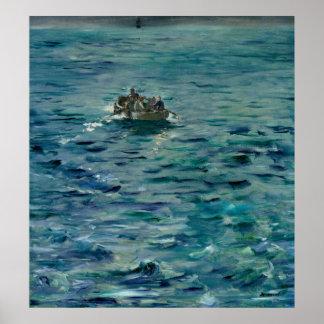 Manet   The Escape of Henri de Rochefort Poster