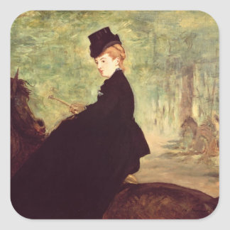 Manet | The Horsewoman, 1875 Square Sticker