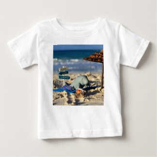 Manfred the Manatee at the Beach Baby T-Shirt