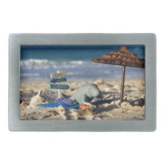 Manfred the Manatee at the Beach Belt Buckles
