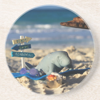 Manfred the Manatee at the Beach Coaster