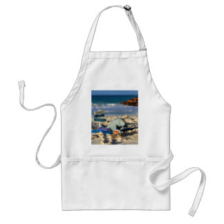 Manfred the Manatee at the Beach Standard Apron