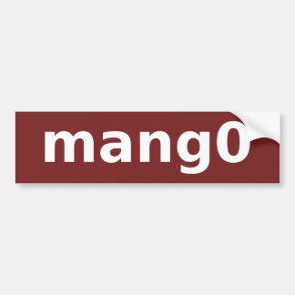 mang0 Logo Bumper Sticker