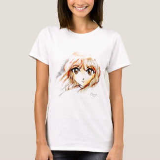 Manga Anime Girl sketch big eyes kawaii cute T-Shirt