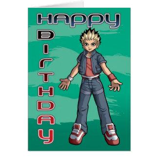 Manga Dude Birthday Card