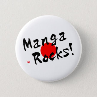 Manga Rocks! 6 Cm Round Badge