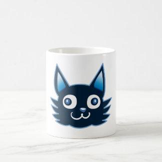 manga style weird cat funny cartoon coffee mug