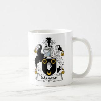 Mangan Family Crest Basic White Mug