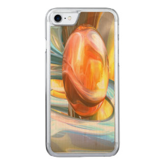 Mango and Cream Abstract Carved iPhone 7 Case