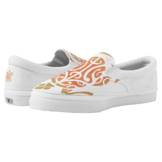 Mango and Lime Turtle Tattoo Slip On Shoes