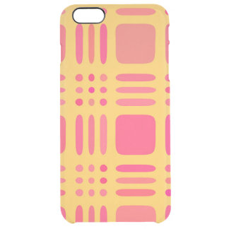 Mango and Papaya Plaid Wannabe Clear iPhone 6 Plus Case