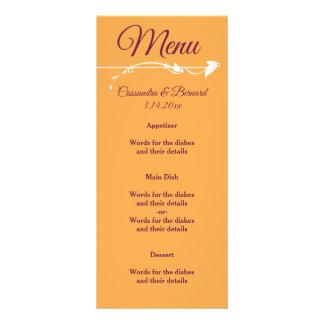 Mango and Purple Wedding   Menu Card